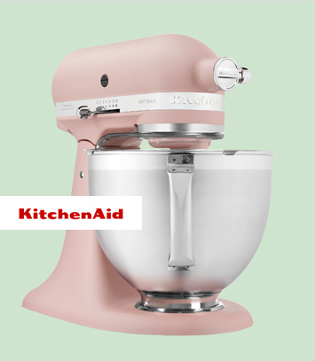 Robot Pâtissier KitchenAid Rose Plume